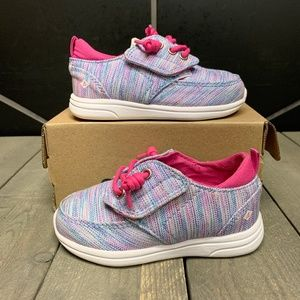 Girls Sperry Baycoast Mocassin JR Blue Pink Shoes